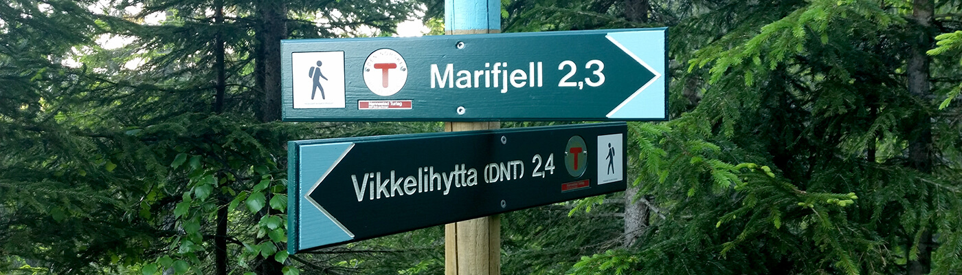 Turskilter i Hurdalsskogen